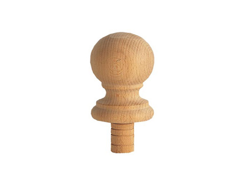 Wooden newel knob