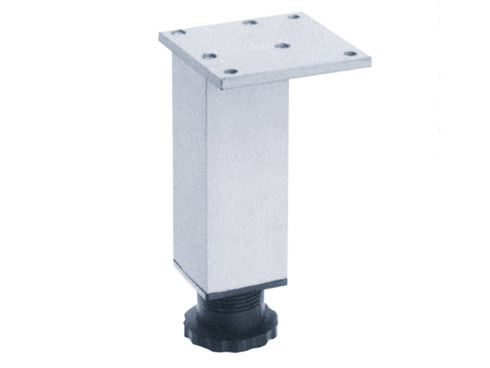 Adjustable aluminum square leg for furniture