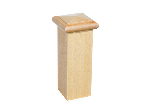Square knob for stair newel