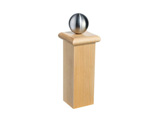 PPI | Stainless Steel Round Knob with square bracket