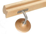 SPT | Wooden and metal bracket for handrails