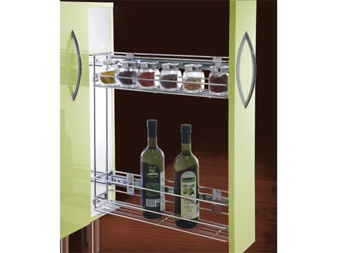 Soft closing removable bottle rack