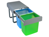 CB216 | Recycling system removable two bins